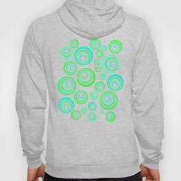 Neon blue and green Hoody