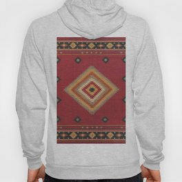 (N14) Red Anthropologie Oriental Moroccan Traditional Artwork. Hoody