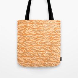 Sherbet Herringbone Lines Tote Bag