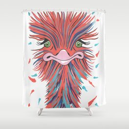 Whimsical Ostrich Shower Curtain