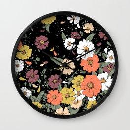 Falling Daisies Wall Clock