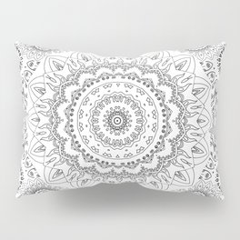 MOONCHILD MANDALA BLACK AND WHITE Pillow Sham