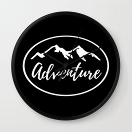 Adventure Mountains Wanderlust Gifts Wall Clock