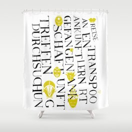 We face the Type! Shower Curtain