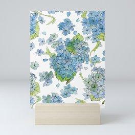Blue Hydrangea Watercolor Mini Art Print