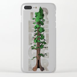 Tree Hugger T-Shirt Clear iPhone Case