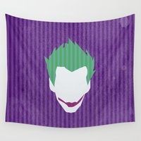the joker Wall Tapestries featuring The Joker by Some_Designs