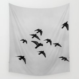 birds flying away Wall Tapestry