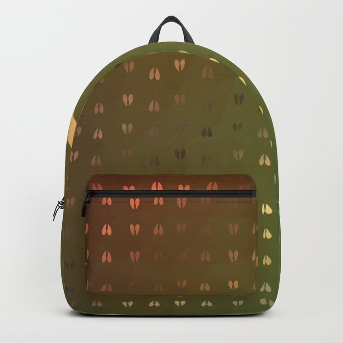 Golden Deer Abstract Footprints Landscape Design Backpack