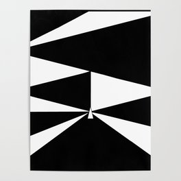 Triangles in Black and White Poster