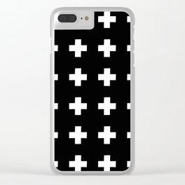 Greek Cross 1 Clear iPhone Case