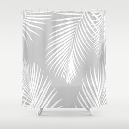 Gray Tropical Pattern Shower Curtain