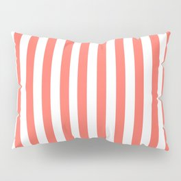 LIVING CORAL STRIPES PANTONE COLOR OF THE YEAR 2019 Pillow Sham