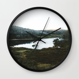 Rainbow Lake Sunrise Wall Clock