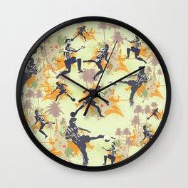 Vintage flower football Wall Clock