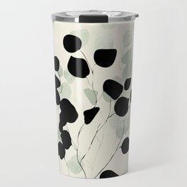 minimal leaves eucalyptus Travel Mug