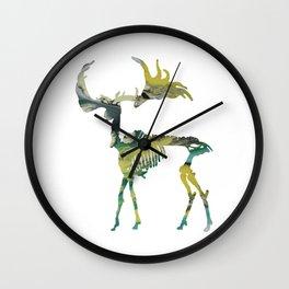 Deer Skeleton Wall Clock