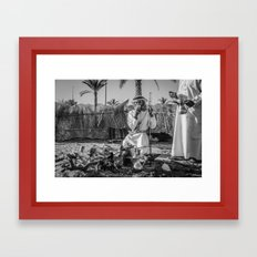 Coffee time in Oman Framed Art Print