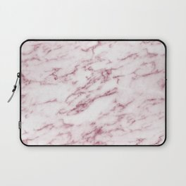 Contento rosa pink marble Laptop Sleeve