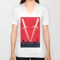 gta v V-neck T-shirts featuring *V*  by Travis English