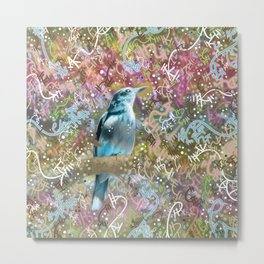Little Scrub Jay Metal Print