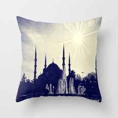 Blue Istanbul Throw Pillow
