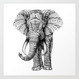 ELEPHANT--MANDALA Art Print