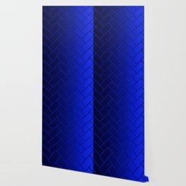 Herringbone Gradient Dark Blue Wallpaper