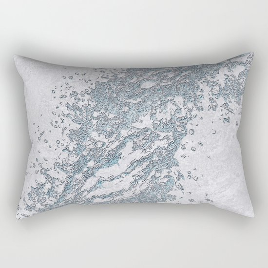 BE WATER MARBLE (abstract) Rectangular Pillow