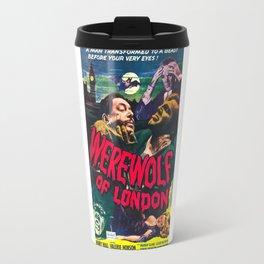 Werewolf of London, vintage horror movie poster Travel Mug