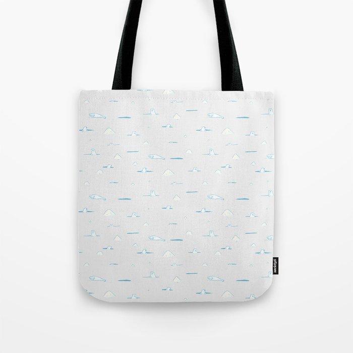 Polar Bear Hunting Tote Bag