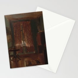 The Artist's Sitting Room in Ritterstrasse Adolph Menzel Stationery Cards