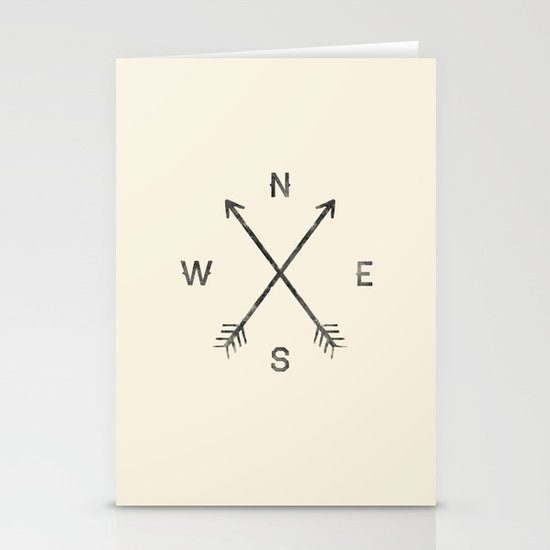 Compass (Natural) Stationery Cards