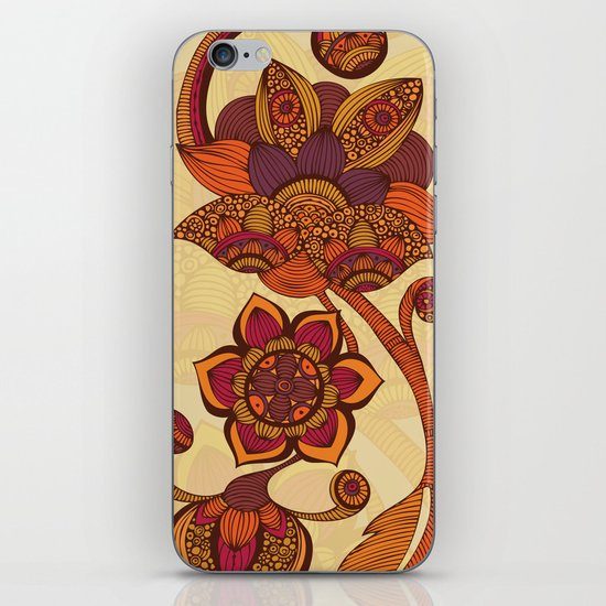 Boho Flowers iPhone & iPod Skin
