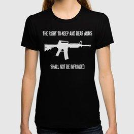 Right To Bear Arms Second Amendment Gun Shirt T-shirt