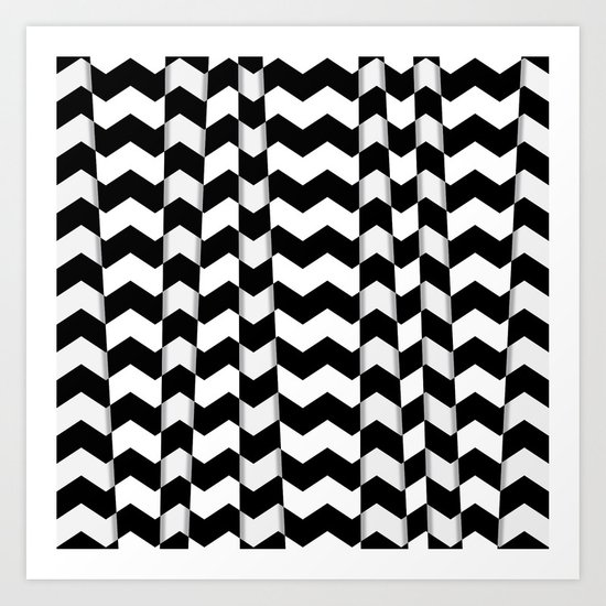 Chevron Pieces Art Print