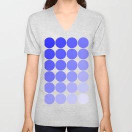 Indigo Circle Color Chart Unisex V-Neck