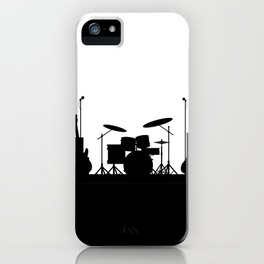 Rock Band Equipment Silhouette iPhone Case