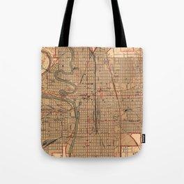 Vintage Map of Wichita Kansas (1943) Tote Bag