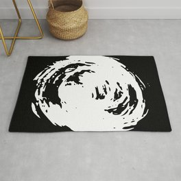 Whorl Black and White Rug