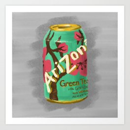 Arizona Green Tea Art Print