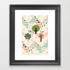 Apple Orchard Zig Zag Framed Art Print