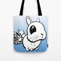 bunny Tote Bags featuring Bunny by Bill Giersch