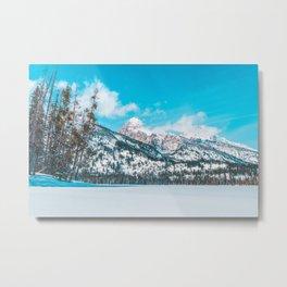 Taggart Lake Winter, Grand Teton National Park Metal Print