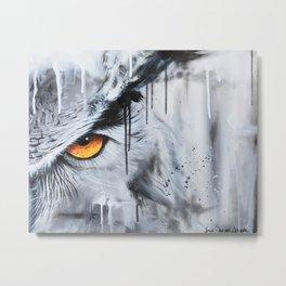 owl eye night vision Metal Print