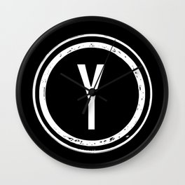 Letter Y Monogram Wall Clock