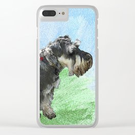 Henry - the Schnauzer dog Clear iPhone Case