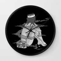 pinup Wall Clocks featuring Pinup 3 by Scott Snowden