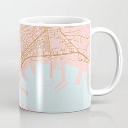 Napoli map Italy Coffee Mug