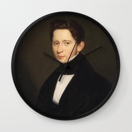 Portrait of a Man Wall Clock
